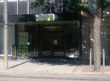 Bilde av inngangen fra Kongens gate